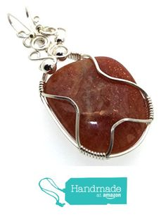 Sunstone Gemstone Sterling Silver Wire Wrapped Pendant from Angelleesa Designs https://www.amazon.co.uk/dp/B01LCT8BXU/ref=hnd_sw_r_pi_dp_ZaM7xbGNTBMGB #handmadeatamazon