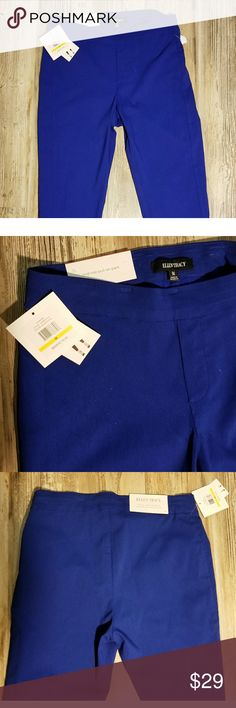 NWT ELLEN TRACY sz Med blue CAPRI pants. Med blue stretchy pullover elastic waist CAPRI pants by ELLEN TRACY. Brand new with tags, these are a bright statement piece to add to any wardrobe! Ellen Tracy Pants
