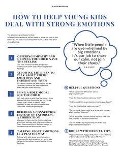 to help young kids deal with strong emotions in a gentle way {+ printable} If you are looking for solutions on how to help young kids deal with strong emotions, I hope that you'll find some good ideas in this article. Peaceful Parenting, Gentle Parenting, Parenting Quotes, Parenting Advice, Kids And Parenting, Conscious Parenting, Positive Discipline, Kids Discipline, Emotional Regulation