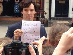 "Benedict Cumberbatch Attacks U.K. Government On ""Sherlock"" Set You go, Benedict! Proud of you!"