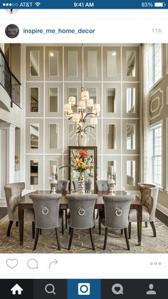 The Best Formal Dining Room Wall Art. Dcor For Formal Dining Room Designs Decor Around The World. Home Design Ideas Dining Room Walls, Dining Room Design, Living Room Decor, Dining Room Mirror Wall, Wall Of Mirrors, Room Chairs, Mirror Bedroom, Cream Dining Room, Circle Mirrors