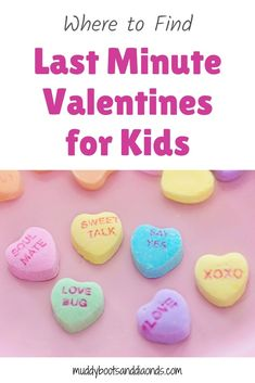 Short on time and need last minute Valentines for the kids? Check out these Valentines that can be printed out in the comfort of your own home! | Where to Find Last Minute Valentines for Kids via muddybootsanddiamonds.com #ValentinesDay