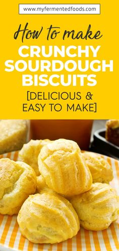 When you bite on a biscuit, that sound of crunch is the first one to please your senses. It can provide you an ilk of the taste, texture, and flavor you are going to enjoy soon. Check out this easy recipe that you can try to make sure your Sourdough Biscuits have a rich texture and the crunch you are looking for. . . . #MyFermentedFoods #FermentedFoods #SourdoughBread #Sourdough #SourdoughBiscuit #Biscuit #SourdoughCrunchyBiscuit Fun Baking Recipes, Easy Healthy Recipes, Whole Food Recipes, Kitchen Recipes, Healthy Foods, Sourdough Biscuits, Sourdough Recipes, Bread Recipes, Homemade Dinner Rolls