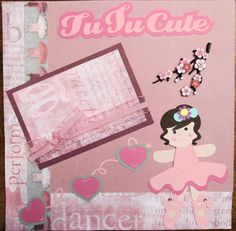 SOLD - Ballerina Premade Scrapbook Page. Paper Piecing.  Ballet.Click this Pin to visit the best site for handmade scrapbook pages.  http://www.etsy.com/shop/SWAKScrappin