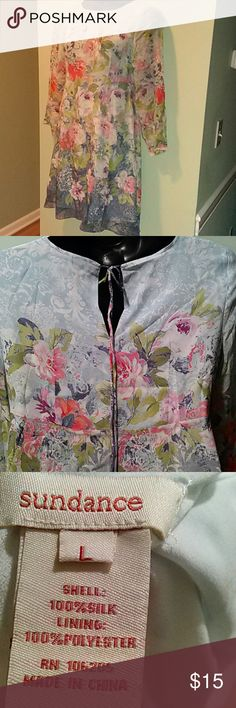 Sundance Dress 100% silk  excellent condition.. You'll feel so pretty this summer! Sundance Dresses
