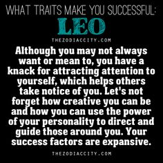 What Traits Make You Successful, Leo….