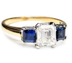 Tiffany & Co. Sapphire and Diamond Ring