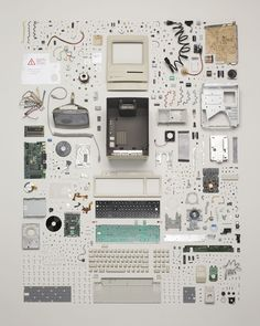 """Knolling is a unique way of taking photos of similar objects in a cool manner. The actual definition of knolling is """"the process of arranging like objects in Web Design, Graphic Design, Book Design, Cover Design, Design Moda, Graphic Art, Things Organized Neatly, Exploded View, Coming Apart"""