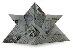 Image detail for -newspaper origami by origamiclub com a samurai hat Origami Yoda, Origami Mouse, Origami Star Box, Origami And Kirigami, Origami Dragon, Origami Fish, Origami Stars, Camping Crafts For Kids, Kids Camp