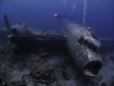 """@majiedqasem: """"The only thing cooler than ship wrecks are plane wreck... A great shot of of a C-47 located in Bodrum Turkey. Photograph by Oktay Calisir. #c47 #planewreck #wreckdive #wreck #turkey #scuba #scubadiving #sunken"""""""