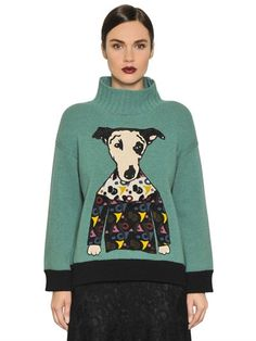I'M ISOLA MARRAS EMBROIDERED WOOL KNIT SWEATER, LIGHT BLUE. #imisolamarras #cloth #knitwear