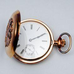 Paul Buhre, numeroitu taskukello, kullattu hopeakuori, 0,925 hopeaa, nro 086. Pocket Watch, Watches, Accessories, Wristwatches, Clocks, Pocket Watches, Jewelry Accessories