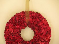 tutorial: Christmas Hydrangea Wreath