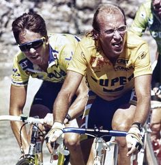 Greg Lemond, Laurent Fignon, Tour de France  Please follow us @ http://www.pinterest.com/wocycling