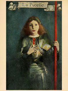 Saint Joan of Arc by Mark Twain With illustrations in color by Howard Pyle Harper & Brothers Publishers New York and London .1919. A lithe, young, slender figure.