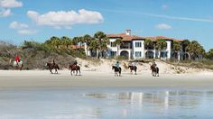 For a 5-star luxury island getaway, visit Sea Island, GA. Part of Georgia's Golden Isles -- which includes St. Simons Island, Jekyll Island, Little St. Simons and Brunswick -- Sea Island is only 75 miles south of Savannah, GA. Book a room at the island's internationally acclaimed resort, The Cloister, play a round (or more) at one of the 3 championship golf courses, or melt the stress away with a day at the lavish Spa at Sea Island #seaisland #travelchannel