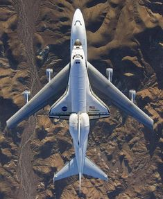 Great photo of the shuttle from above.