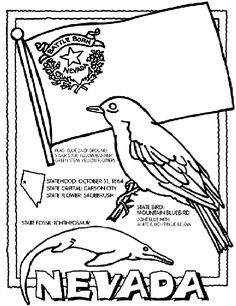 #Nevada State Symbol Coloring Page by Crayola. Print or color online.