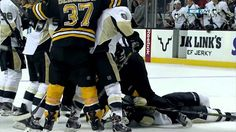 Bruins-Pens incidents, Thornton KO's Orpik, Neal-Marchand w/SlowMo 12/7/13.This is my take:Orpik had a real dirty hit on Eriksson,Thorty went after him,Orpik would not go,then Neal lands a real dirty knee on Marchand,Shawn was standing up for his team,he was not trying to hurt anybody,it was a nasty game,but it happens,hope Brooksie gets better