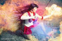 Character: Sailor Mars (Rei Hino) / From: 'Pretty Soldier Sailor Moon' Manga & 'Sailor Moon' Anime Series / Cosplayer: Kapalaka