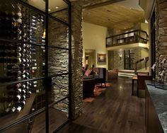 Contemporary Wine Cellar Design, Pictures, Remodel, Decor and Ideas