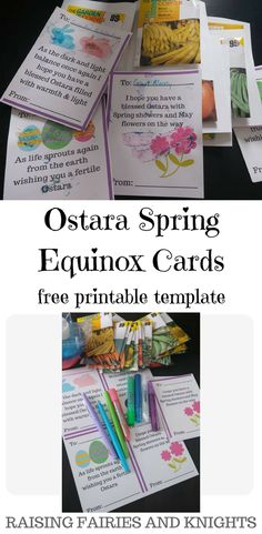 Ostara Spring Equinox Cards - Do you like to send out seasonal cards to your family and friends? Check out below for a free printable and some tips to brighten up anyone's day.