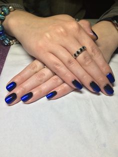 CND Shellac in Blackpool with Deep Blue additive #cnd #blackpool
