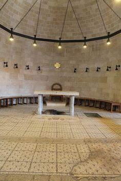 Presbiterio de la Iglesia de la Multiplicación, en Tierra Santa.