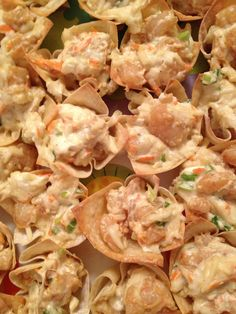 Shrimp Wonton Cups - pampered chef recipe - soooo yummy!   Been making these for years.