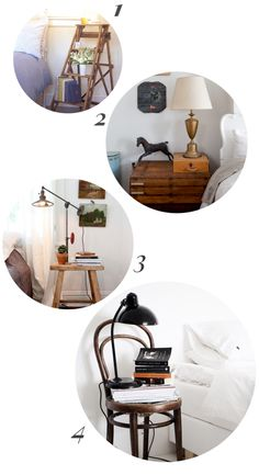 roundup of bedside table ideas