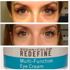 Amazing results using R+F Redefine Multi-Function Eye Cream. Are you interested in minimizing the look of crow's-feet and reducing the appearance of dark circles and puffiness? Message me to try it out!