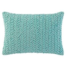Braided Velvet Pillow in Lake (Solid Pattern, decorative pillows) | Room Furnishing Accessories, Accent Pillows from Company C