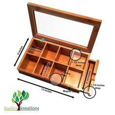Tea Bamboo Box Storage Organizer Kitchen Gatherings Home Office Friends Elegant