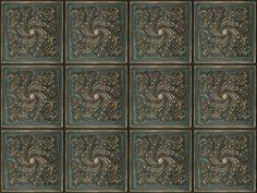 tin tile effect wall vinyl photography backdrop by HeatherandMatty