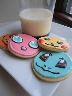 Items similar to Customizable Pokemon Cookies with Royal Icing on Etsy Cupcakes, Cupcake Cookies, Sugar Cookies, Pokemon Torte, Yummy Treats, Sweet Treats, Pokemon Craft, Biscuits, Pokemon Birthday