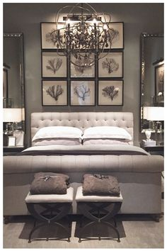 Small Master Bedroom Renovation For This Winter 15 Bedroom Art Above Bed, Small Master Bedroom, Master Bedroom Design, One Bedroom, Home Decor Bedroom, Bedroom Furniture, Bedroom Ideas, Bedroom Designs, Furniture Ideas