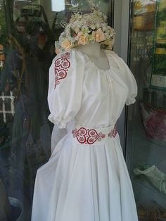 ADA.etno.art / Folk svadobné šaty s červeným srdcom ...