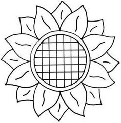 "Sunflower ""Prairie Sunflower""- design for 9 inch block. This would be good for the setting blocks between Prairie Flower blocks.""Prairie Sunflower""- design for 9 inch block. This would be good for the setting blocks between Prairie Flower blocks. Sunflower Stencil, Sunflower Template, Sunflower Crafts, Sunflower Quilts, Sunflower Design, Sunflower Pattern, Sunflower Colors, Quilting Stencils, Quilting Designs"