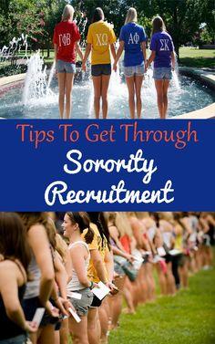 Tips To Get Through Sorority Recruitment