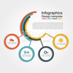 Infographic design template with place for your data. royalty-free infographic design template vector illustration stock vector art & more images of abstract Circle Infographic, Free Infographic, Infographic Templates, Creative Infographic, Fashion Infographic, Process Infographic, Timeline Infographic, Informations Design, Templates Powerpoint