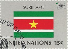 national flag on UN stamp:suriname National Flag, Postage Stamps, Flags, Seals, World, Stamp, Stamps