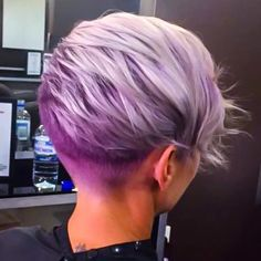 pastel pink roots and purple ends ombr short hair pixie cut davines hair by amai hair. Black Bedroom Furniture Sets. Home Design Ideas