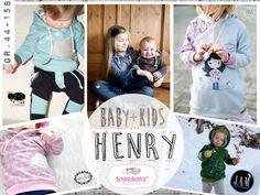 Henry Kids ist ein lässiger Pulli für Kinder von 44 bis 158.     Henry ist ein lässiger und leger geschnittener Hoodie, der für Mädchen sowie Jungs geeignet ist. Henry zeichnet sich durch sein...
