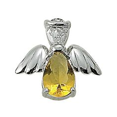 """Sterling Silver 5/8"""" Topaz November Birthstone Angel Wing Pin with Clutchback * Read more reviews of the product by visiting the link on the image."""