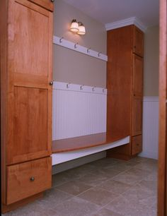 Mud room without lockers
