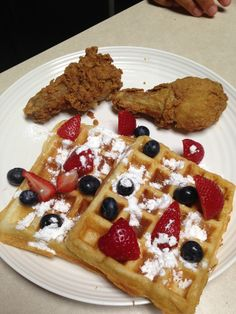 Chicken & Waffles! on Pinterest | Chicken and waffles, Fried chicken ...