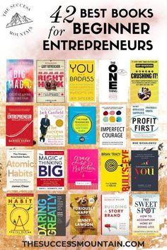 Best Business Books for Beginner Entrepreneurs [Gift Guide Best Books To Read, Good Books, My Books, Book Club Books, Book Lists, Entrepreneur Books, Personal Development Books, Finance Books, Books For Teens