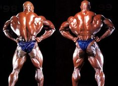 Ronnie Coleman, back lat spread progress 98 (left) vs 99 (right) Mr O. Greatest of all times! http://musclemecca.com/forumdisplay.php/307-Big-Ronnie-Coleman