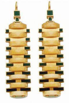 Earrings, Designed by Raymond Templier, 1925.