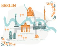 llustrated map of Berlin by Studio Brun / Studiobrun.nl